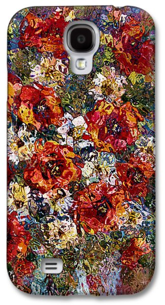 Red Poppies Bouquet Galaxy S4 Case