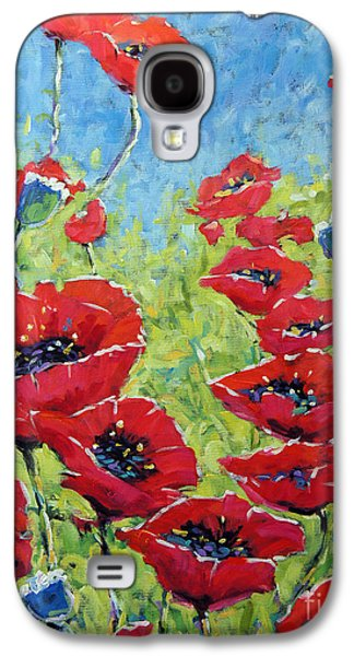 Red Poppies By Prankearts Galaxy S4 Case by Richard T Pranke