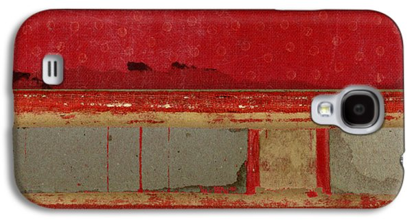 Red Riley Collage Square 1 Galaxy S4 Case by Carol Leigh