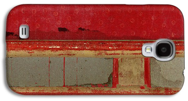 Red Riley Collage Square 1 Galaxy S4 Case