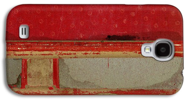Red Riley Collage Square 3 Galaxy S4 Case by Carol Leigh