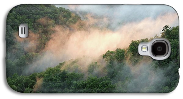 Red River Gorge Kentucky Fog In Mountains At Sunset After A Storm Galaxy S4 Case