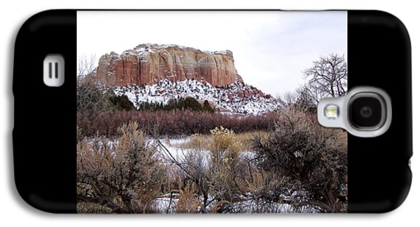 Red Rock Butte In Snow Galaxy S4 Case