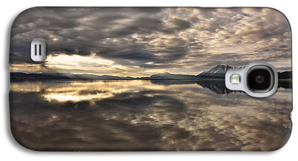 Red Rock Lake Sunrise Galaxy S4 Case by Leland D Howard