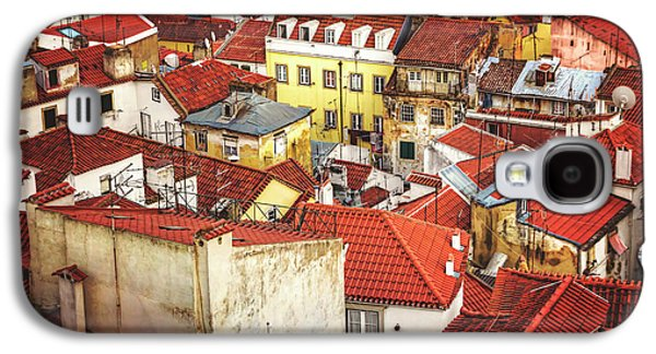 Red Rooftops Of Old Alfama Lisbon  Galaxy S4 Case