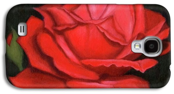 Red Rose Galaxy S4 Case by Janet King