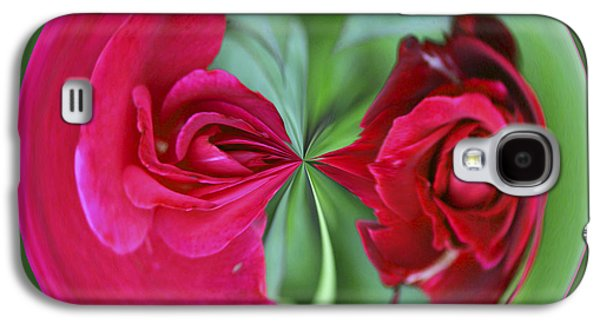 Galaxy S4 Case featuring the photograph Red Rose Orb by Bill Barber