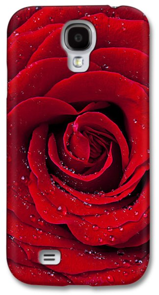 Red Rose With Dew Galaxy S4 Case