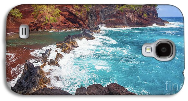 Red Sand Beach Panorama Galaxy S4 Case by Inge Johnsson