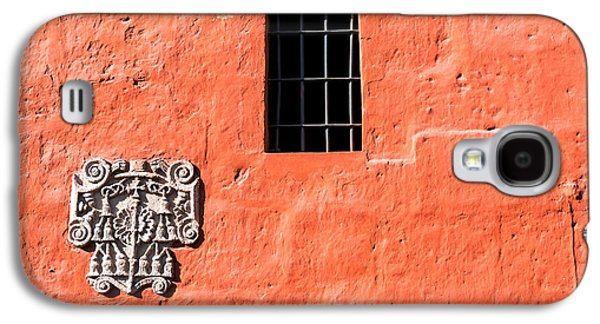 Red Santa Catalina Monastery Wall Galaxy S4 Case by Jess Kraft