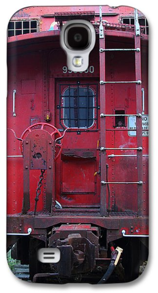 Old Caboose Galaxy S4 Cases - Red Sante Fe Caboose Train . 7D10476 Galaxy S4 Case by Wingsdomain Art and Photography