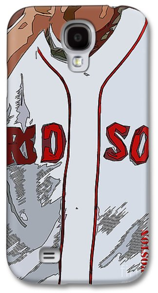 Red Sox Baseball Team White And Red Galaxy S4 Case by Pablo Franchi