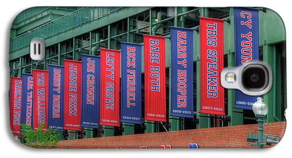 Red Sox Hall Of Fame Banners - Fenway Park Galaxy S4 Case by Joann Vitali