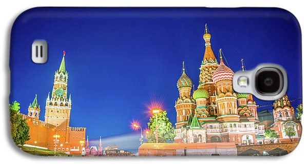Moscow Galaxy S4 Case - Red Square At Night by Delphimages Photo Creations