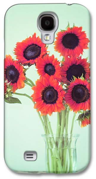 Red Sunflowers Galaxy S4 Case by Amy Tyler