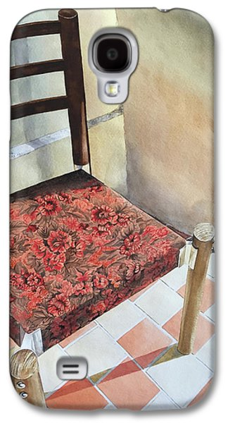 Red Tapestry Chair Galaxy S4 Case by Cathy Klopfenstein