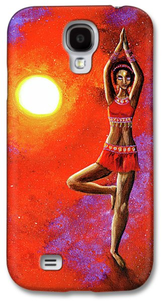 Red Tara Yoga Goddess Galaxy S4 Case by Laura Iverson