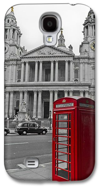 Red Telephone Boxes In London Galaxy S4 Case