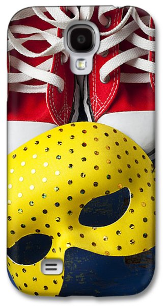 Red Tennis Shoes And Mask Galaxy S4 Case by Garry Gay