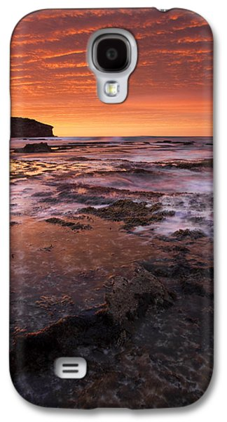 Kangaroo Galaxy S4 Case - Red Tides by Mike  Dawson