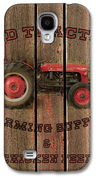 Red Tractor Farming Supply Galaxy S4 Case