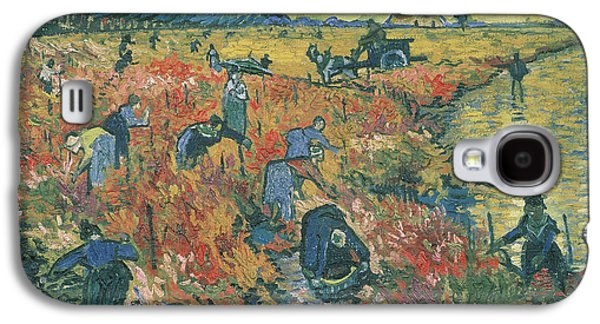 Red Vineyards At Arles Galaxy S4 Case by Vincent van Gogh