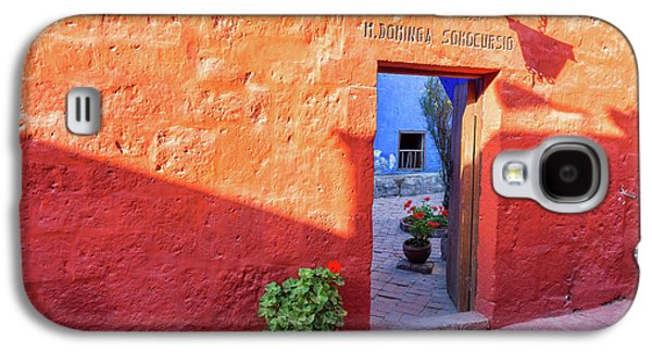 Red Wall In Santa Catalina Monastery Galaxy S4 Case by Jess Kraft