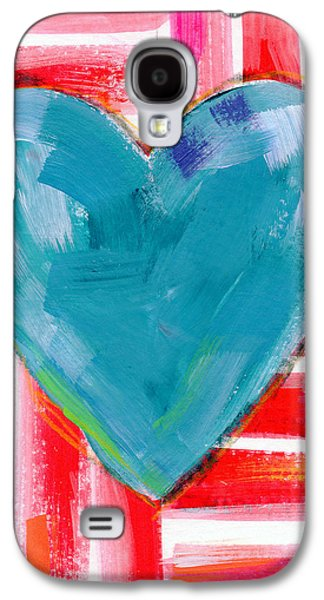 Red White And Blue Love- Art By Linda Woods Galaxy S4 Case by Linda Woods