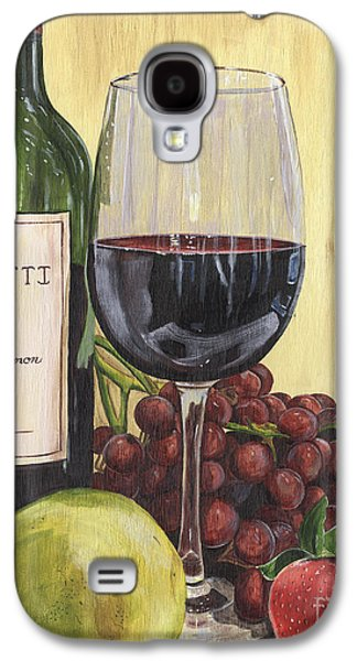 Red Wine And Pear 2 Galaxy S4 Case by Debbie DeWitt