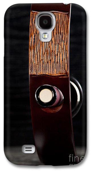 Red Wine Bottle In Luxury Holder Galaxy S4 Case by Wolfgang Steiner