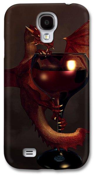 Red Wine Dragon Galaxy S4 Case by Daniel Eskridge