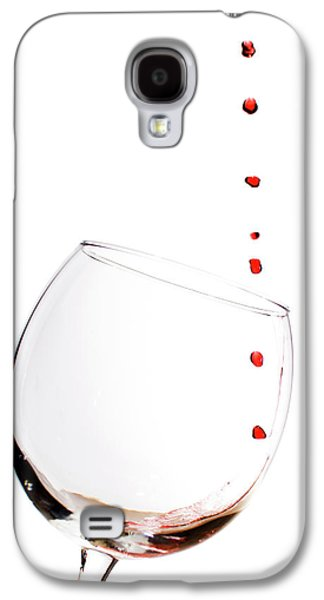 Red Wine Drops Into Wineglass Galaxy S4 Case