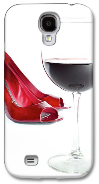 Red Wine Glass Red Shoes Galaxy S4 Case