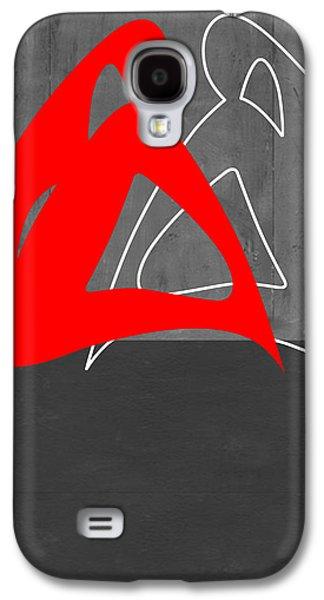 Red Woman Galaxy S4 Case by Naxart Studio