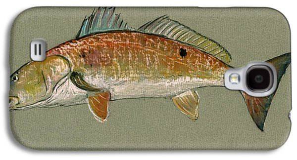 Redfish Watercolor Painting Galaxy S4 Case by Juan  Bosco