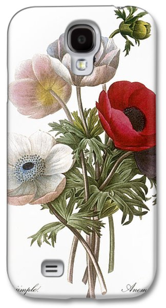 Redoute: Anemone, 1833 Galaxy S4 Case by Granger