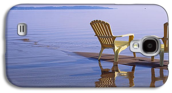 Reflection Of Two Adirondack Chairs Galaxy S4 Case