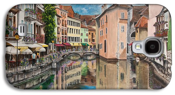 Water Scene Galaxy S4 Cases - Reflections Of Annecy Galaxy S4 Case by Charlotte Blanchard