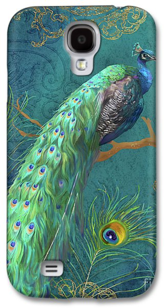 Peacock Galaxy S4 Case - Regal Peacock 3 Midnight by Audrey Jeanne Roberts