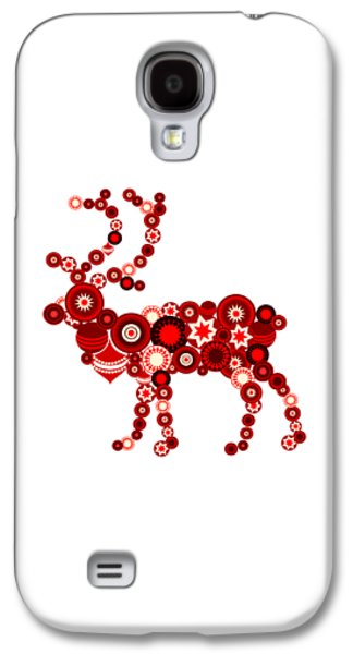 Reindeer - Christmas Ornaments - Holiday Season Galaxy S4 Case