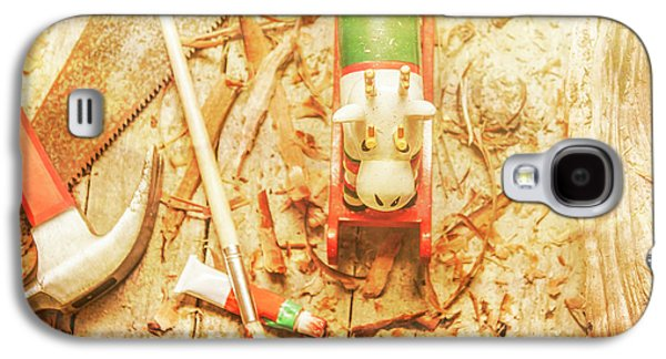 Reindeer With Tools And Wood Shavings Galaxy S4 Case by Jorgo Photography - Wall Art Gallery