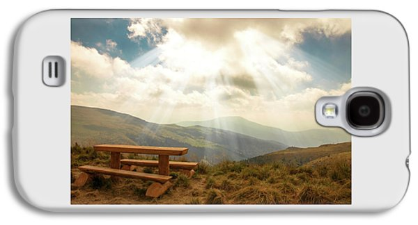 relax on a mountain top by Iuliia Malivanchuk Galaxy S4 Case