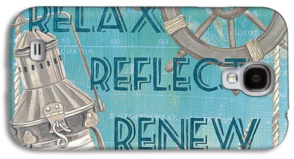Relax Reflect Renew Galaxy S4 Case by Debbie DeWitt