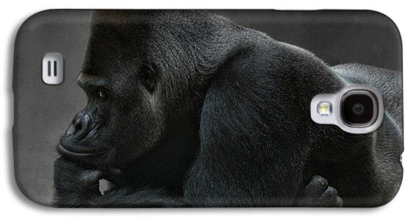 Gorilla Galaxy S4 Case - Relaxed Silverback by Joachim G Pinkawa