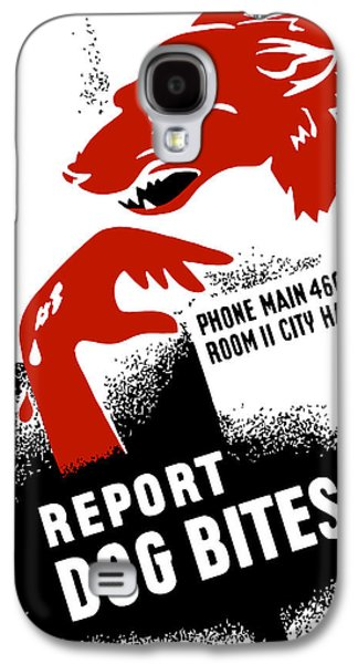 Report Dog Bites - Wpa Galaxy S4 Case by War Is Hell Store