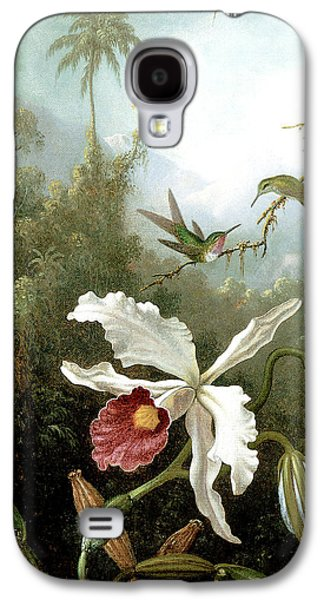 Retouched Masters - Orchid And Hummingbirds In Tropical Forest Galaxy S4 Case
