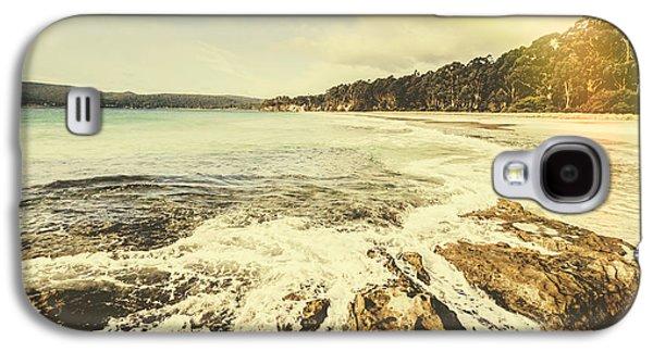 Retro Beach Instant Photo Galaxy S4 Case by Jorgo Photography - Wall Art Gallery