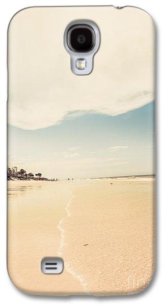 Retro Beach Landscape Taken Bribie Island  Galaxy S4 Case