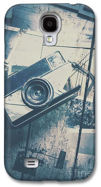Retro Camera And Instant Photos Galaxy S4 Case by Jorgo Photography - Wall Art Gallery