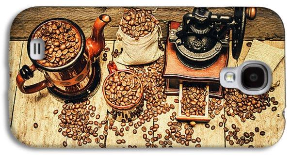 Retro Coffee Bean Mill Galaxy S4 Case